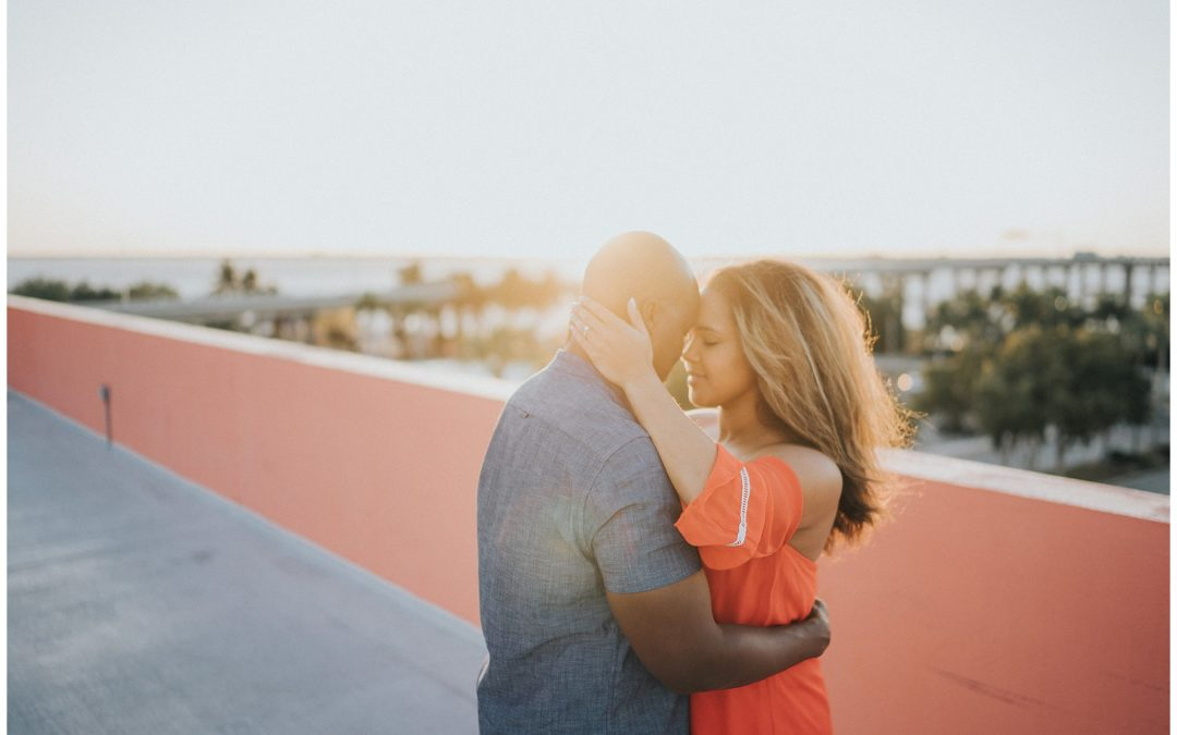 {Nicole & Brandon} A Downtown Rooftop Engagement